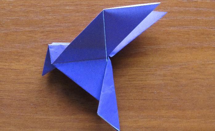Как оригами сделать голубя мира из 650